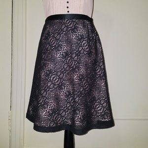 Black crochet lace skirt